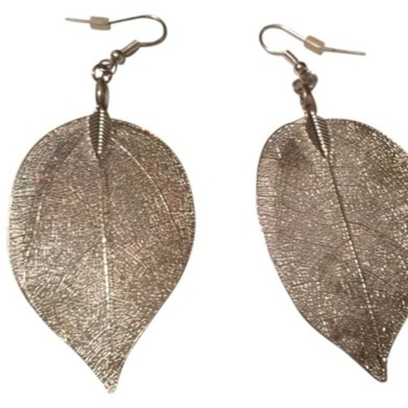 1bf5708837f0d Silver Leaves Earrings NWT